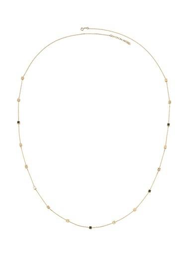 Piano Jewellery Gravity Küp Ve Mine Altın Kolye 14 Ayar Altın